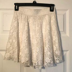 Hollister White Knitted Skirt